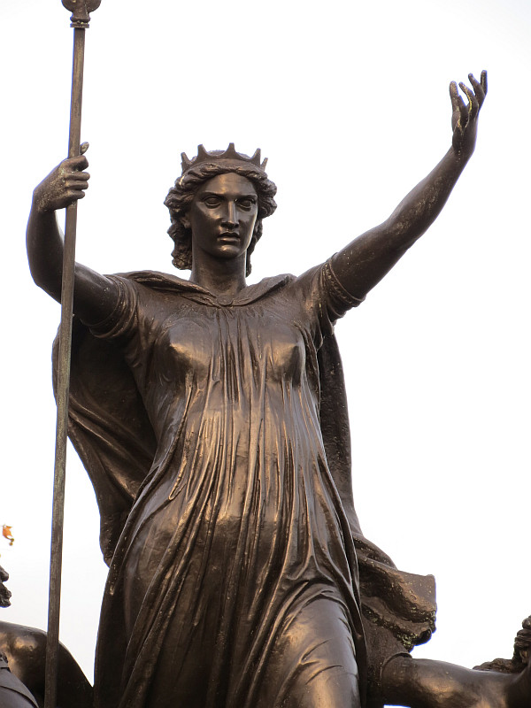 Boadicea by westminster bridge and houses of parliament by thomas