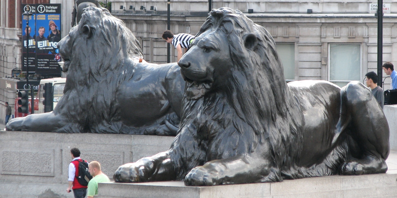 Trafalgar Square Lions Drawing Two of Landseer's Lions