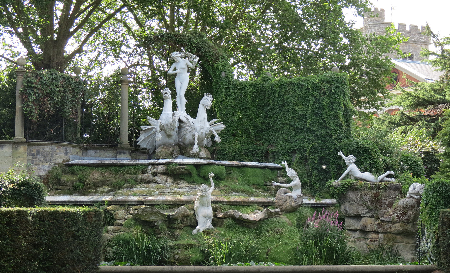 York House Gardens Statues, Overall Composition (not All Figures In View) .